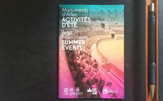 Arles patrimoine (Brochure des activités d'été 2016 des monuments historiques)